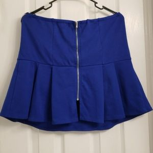 Forever 21 Tops - Forever 21 blue peplum tube top